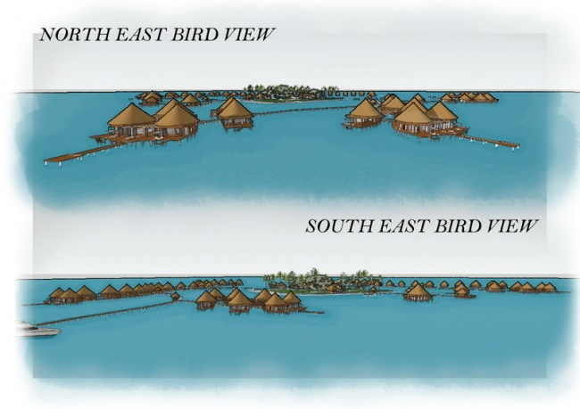 North & South East Bird View